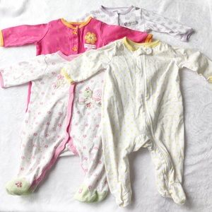 4 Footed Sleeper Bundle Carter's, Just One You 3m